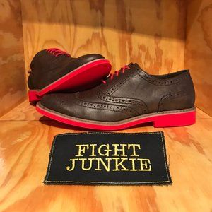 Steve Madden Leather Linkk Wing Tip Red Soles
